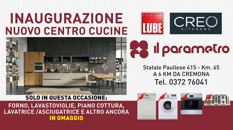 Nuovo Centro Cucine Lube e Creo Kitchens a Cremona